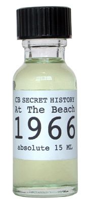 """Never heard of this before, but it's on my to-do list! From the CB site: """"The prime note in this scent is Coppertone 1967 blended with a new accord I created especially for this perfume – North Atlantic. The base of the scent contains a bit of Wet Sand, Seashell, Driftwood and just a hint of Boardwalk. The effect when you wear At The Beach 1966 is as if you've been swimming all day in the ocean."""""""