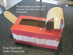 Tissue box body for DIY Puppy Dog Valentine Box