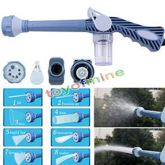 8in1 Multi Function Jet Water Soap Cannon Dispenser Nozzle Spray Gun Cleaning Spray Gun Hose connector