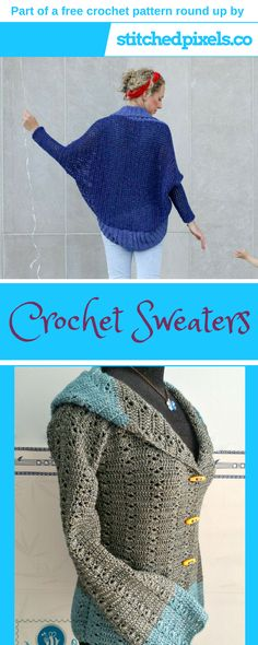 Free crochet pattern round up - Make your own warm and cozy sweater, cardigan or cocoon with this list of the best free crochet sweater patterns out there!