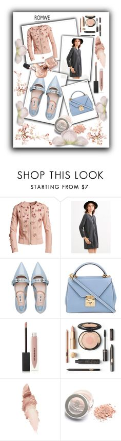 """Romwe"" by majadost ❤ liked on Polyvore featuring Elie Tahari, Miu Miu, Mark Cross, Burberry and Maybelline"