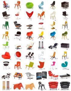 miniature designer chairs