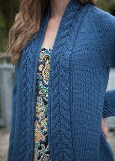 Top-Down Cardigan Knitting Pattern - No-Sew Sweater Pattern - Chic Knits Edin…