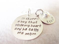 mommy jewelry mother necklace mother son von SusanSeaGlassDesigns, $50.00