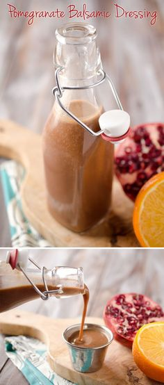 Pomegranate Balsamic Dressing - A light and refreshing dressing with pomegranate and orange juice