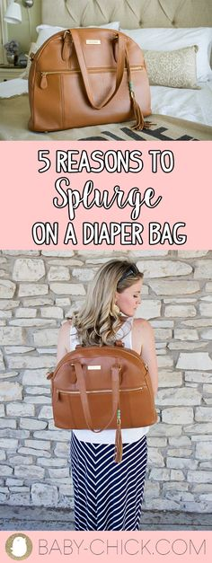 There's a lot to buy for baby while pregnant, & one of the biggest purchases for YOU is a diaper bag you love. Here are 5 reasons to splurge. Diaper Captions, Diaper Wreath, Baby Diaper Bags, Baby Chicks, How Big Is Baby, Traveling With Baby, Girl Gifts, Baby Shower Gifts, New Baby Products