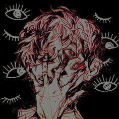 I feel nothing. will art save me? drawings in 2019 arte o Arte Horror, Horror Art, Anime Chibi, Anime Art, Dessin Old School, Arte Do Kawaii, Vent Art, Creepy Art, Creepy Eyes