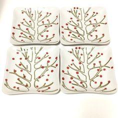 KN Home Willow Collection Square Appetizer Plates Karen Neuburger Four 4   eBay