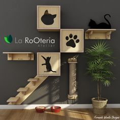 - La RoOteria Atelier Cat Design - Furniture and toys for cats. Siberian Cats For Sale, Cat Hotel, Diy Cat Toys, Toys For Cats, Cat Towers, Cat Shelves, Cat Playground, Cat Room, Pet Furniture