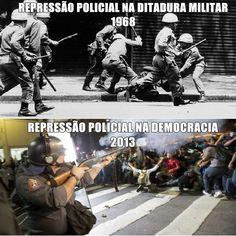 Abuso do poder militar continua no Brasil. Protesto São Paulo. Quarto Ato contra aumento da passagem. Revolta.