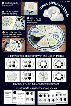 Moon Phases Foldable - different ones for different grade levels
