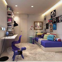 Quarto teen l Despojado e jovial, marcado pela composição de quadros, cores intensas e mobiliário de design, um show!!! Projeto @c_arq @hildebrandsilva #bedroom #teen #homedecor #quarto #arquiteta #arquiteto #instahome #home #colors #sp #cores #design #quadros #photo #instagood #arquitetura #decor #interiors #jovem #beautiful #blogfabiarquiteta #fabiarquiteta