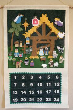 Nativity Advent Calendar 24 Ornaments Hand por thelullabyloft