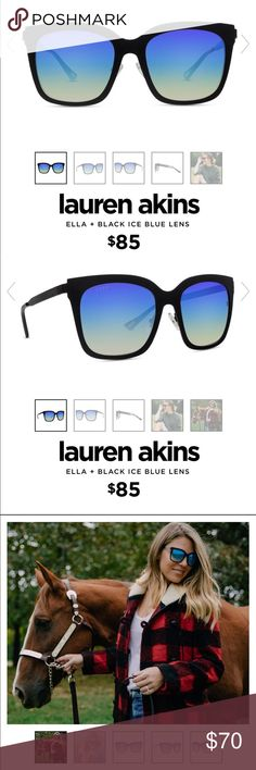 ca0669a1533 Lauren Akins Ella + Black Blue Ice Sunglasses Diff Eyewear collaboration  with Lauren Akins. These