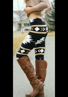 Best way to wear Aztec leggings for women aztec leggings navajo aztec print leggings QMKYSMN Tribal Leggins, Aztec Print Leggings, Printed Leggings, Patterned Leggings, Print Tights, Printed Trousers, Looks Style, Looks Cool, Fall Winter Outfits