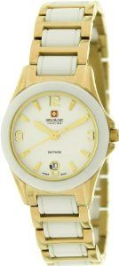 Swiss Military Hanowa Women's Swiss Eleganza Lady 06-7168-7-02-001 Two-Tone Stainless-Steel Quartz Watch with Silver Dial Swiss Military Hanowa. $248.99. 28mm Case Diameter. Mineral Crystal. 50 Meters / 165 Feet / 5 ATM Water Resistant. Swiss Eleganza Lady Collection. Quartz Movement
