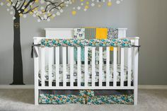 Bumperless Crib Bedding Set - No, I'm not pregnant crazy people!!! I just thought it was cute.