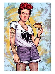 Frida and the Taco (Canvas) by Oliver Gal at Gilt
