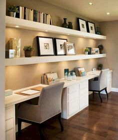 40 Classy Farmhouse Home Office Design