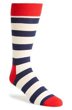 Men's Socks: Happy Socks Stripe Socks available at Nordstrom
