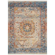 Safavieh Vintage Persian Blue/ Multi Polyester Rug (8' x 10')   Overstock.com Shopping - The Best Deals on 7x9 - 10x14 Rugs