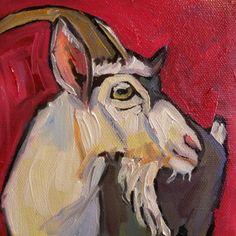 Goat, painting by artist Elizabeth Fraser