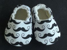 Buy Now Baby Shoes baby slippers booties Boy Mustache Gray...