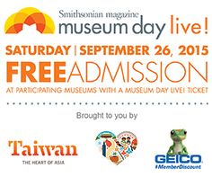 is an annual event hosted by Smithsonian magazine in which participating museums across the country open their doors to anyone presenting a Museum Day Live! Stuff To Do, Things To Do, Downtown Orlando, Free Museums, Homeschooling Resources, Free Admission, Field Trips, Family Outing, Future Travel