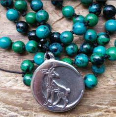 Magickal Stag, stag prayer beads, stag mala, stag rosary, power prayer beads, power mala, power rosary, pagan prayer beads, pagan rosary by MagickAlive on Etsy