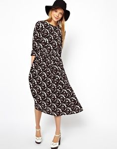 MADEMOD | Thistle Print Midi Dress  #modest #clothing #tznius #tzniut #mademod #dresses