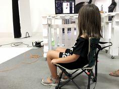 Backstage baby shoot presso limbo cyclorama studio fotografico Roma sala posa Lumina Sense art lab