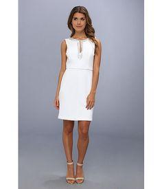 Vince Camuto Beaded Sleeveless Scuba Dress White - Zappos.com Free Shipping BOTH Ways