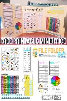 Free Kindergarten Learning Folder Printables. Use as morning work and reference folder.
