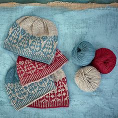 This is a beautiful hat knit in Semilla Dk, a soft organic wool yarn from bc garn available in loads of wonderful colours. Just one ball of each colour will be enough for any of the three sizes, to fit a child through to an adult. It's also a great knit for any gender.
