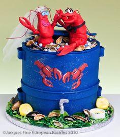 Lobster Theme Wedding Cakes #JoesCrabShack #Lobster