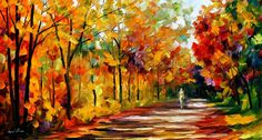 Fall Noon — PALETTE KNIFE Oil Painting On Canvas By AfremovArtStudio. Official Shop: https://www.etsy.com/shop/AfremovArtStudio