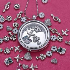 Ebay $1.89 each Personalized Silver Floating Charm locket living memory Necklace Free Gift Chain #100New #Locket