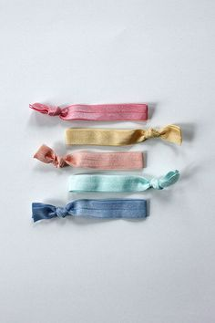 elastic hair ties -- perfectly pastel palette / etsy