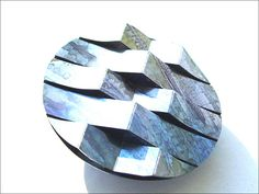 Diverge/Converge Brooch - Dawn Meaden-Johnson - Anodised Aluminium with Stainless Steel Brooch Pin