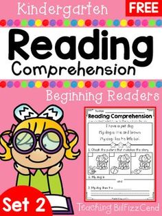FREE Reading Comprehension For Beginning Readers4 Free Emergent Reading Comprehension and Fluency Passages.To see the full packet here:Reading Comprehension For Beginning Readers SET 2These reading comprehension passages are great for literacy centers, guided reading, homework and more!!These READING COMPREHENSION AND FLUENCY PASSAGES will give your students confidence in reading.*Please check out the preview for a closer look at the product*You may also be interested in:Reading Fluency and…
