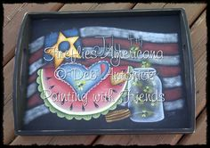Fireflies Americana by Deb Antonick email by PaintingWithFriends