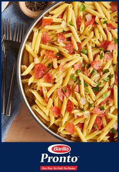 Pronto means a speedy dinner – Kellie's Simple Penne with Pepperoni & Cheese – to satisfy the whole family: favorite ingredients, minimal cleanup, and ready in minutes. And best of all, your kids will love the leftovers! Create a delicious meal with Pronto today.
