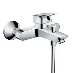 wall mixer bath taps - Google Search Bath Shower Mixer Taps, Bath Taps, Bathroom Taps, Shower Set, Modern Bathroom, Bathroom Warehouse, Bar, Messing, Montage