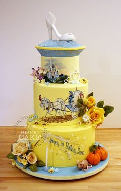 Cinderella Cake by House of the Rising Cake - Nice interpretation! The pillow up top irks me but otherwise, very nice!