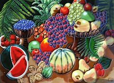Continental Art Center AD-0146 12 by 16-Inch Fruits Ceramic Art Tile by Continental Art Center. $63.49. Exclusive designs from well known artists with signature of the artist on each tile. Pre-attached backings can be removed by soaking in water for installation as backsplash or a center piece both indoor and outdoor. 100-Percent hand made 3-D textures are created by hand pipping process; One of a kind Come with a recyclable gift box. Hand painted, glazed, and kil...