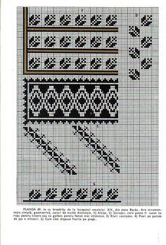 *etnobiblioteca*: Culegere de cusături populare de Leogadia Ștefănucă Simple Cross Stitch, Hand Embroidery, Projects To Try, Artisan, Chart, Traditional, Knitting, Crochet, Pattern