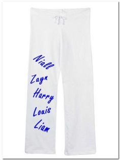 """One Direction Members Cute Sweatpants White Size Large by Mixapparelusa. $34.00. Bella. 7.5 ounce. Size large (inseam 32.5"""" waist 19"""" relaxed) junior fit. 100% pre-shrunk combed ring-spun cotton. Coverstitched drawstring waistband, straight wide open bottom leg. A perfect pair of sweatpants for the music fan. A super quality and very comfortable product sold by us.....mixapparelusa."""