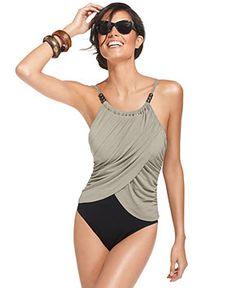 Magicsuit Draped Tummy-Control One-Piece Swimsuit - Swimwear - Women - Macy's