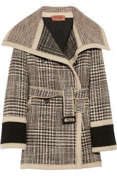 vanna double breasted wool tweed coat ++ missoni
