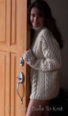 The Barrington Sweater as modeled by Sarka.